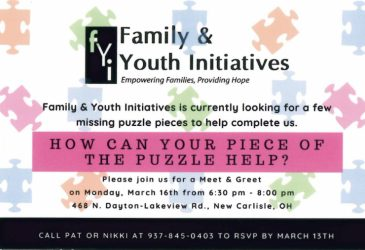 RESCHEDULED: Family & Youth Initiatives Meet & Greet